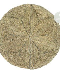 Alfombra redonda tejido en fibra natural de Enea de 90 cm