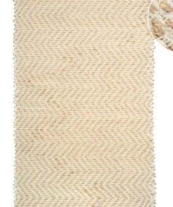 Alfombra rectangular en tejido natural de Yute de 60 X 110 cm