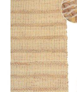 Alfombra rectangular en tejido trenzado natural de Yute de 60 X 110 cm