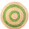 Alfombra redonda bicolor tejido en fibra natural de 120 cm