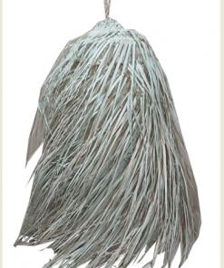 Lampara de colgar de palma forma cónica con flecos